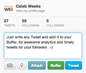 Buffer in Twitter