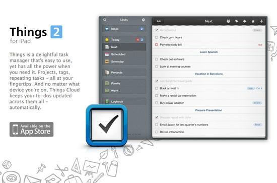 Things iPad – Web header