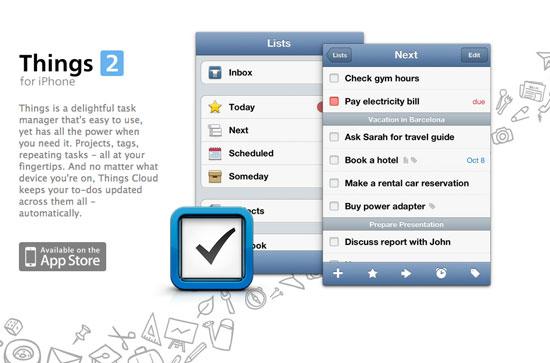 Things iPhone – Web header