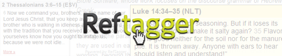 Reftagger from Logos Bible Software